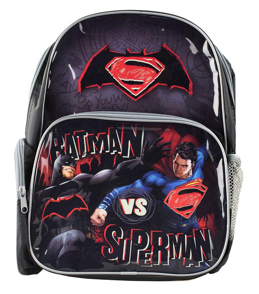 batman vs superman backpack boys school book bag