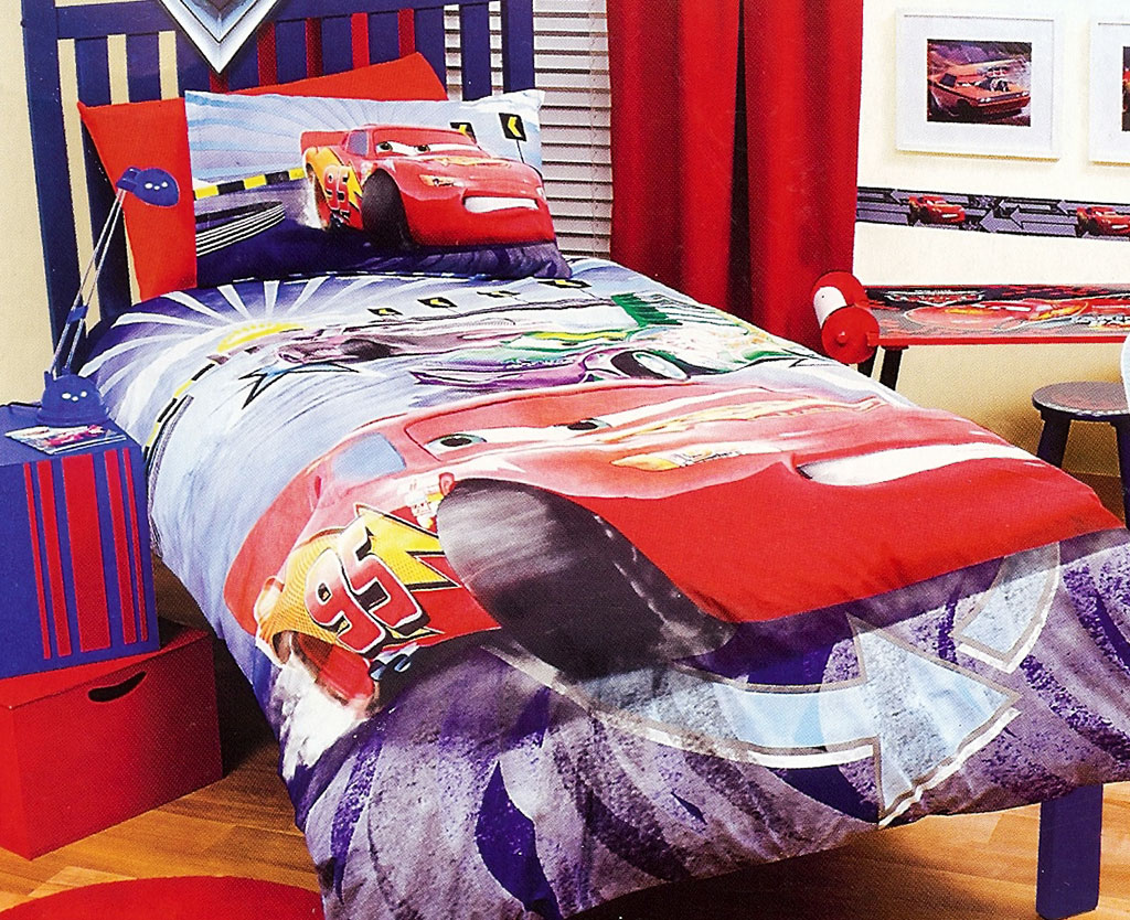 Disney Cars Quilt Doona Duvet Cover Set Boys Bedding