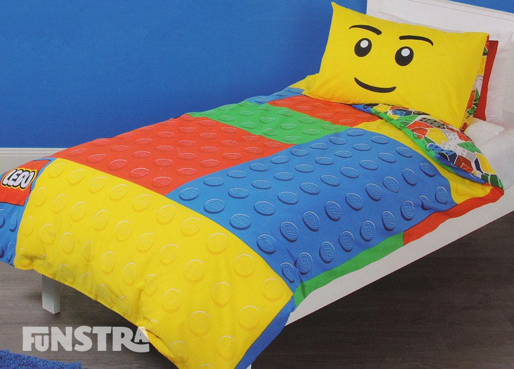 Lego Quilt Doona Duvet Cover Set Boys Bedding Girls Kids