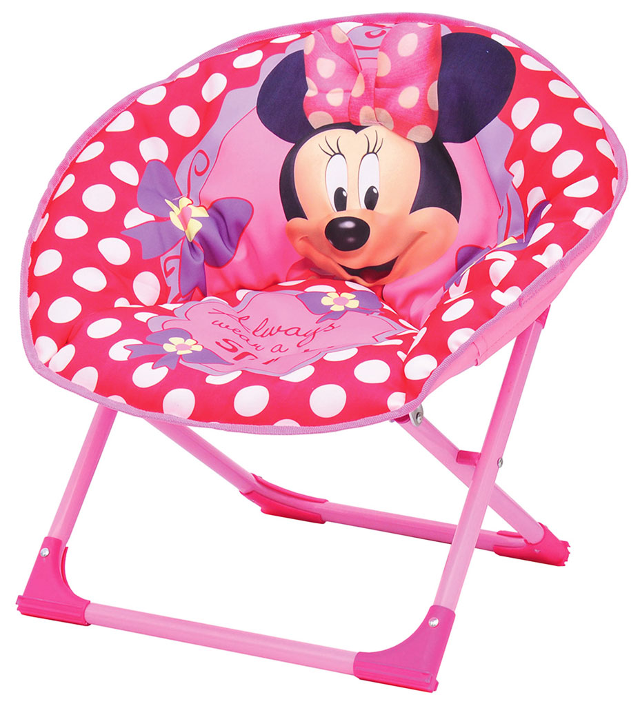 Minnie Mouse Chair Folding Camping Fold Up Seat Moon Kids ...