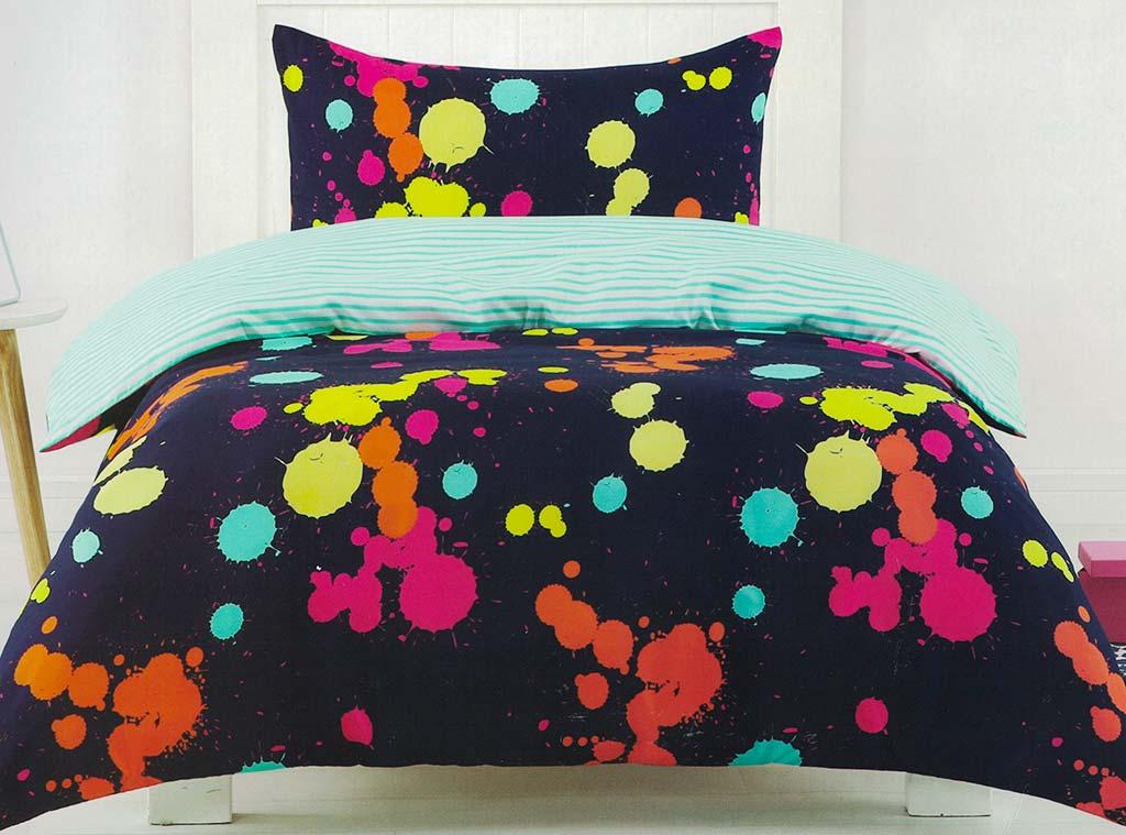 Paint Splatter Bedding Quilt Cover Set Doona Duvet Cover ...