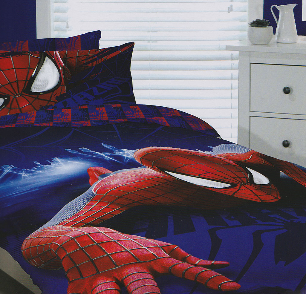 Spider Man Quilt Doona Duvet Cover Set Boys Bedding Kids