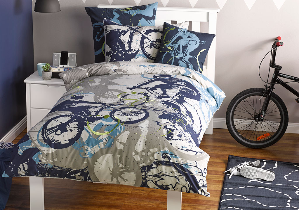 Set doona duvet boys bicycle bedding kids mountain bike bmx ebay