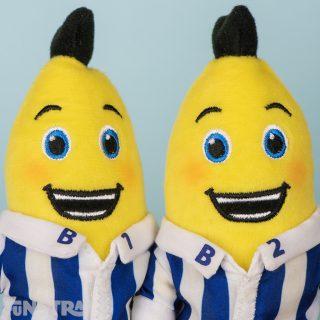 Happy B1 and B2 stuffed toys