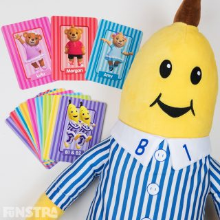 Card games with vibrantly designed playing cards of B1, B2 and the teddy bears Lulu, Morgan and Amy