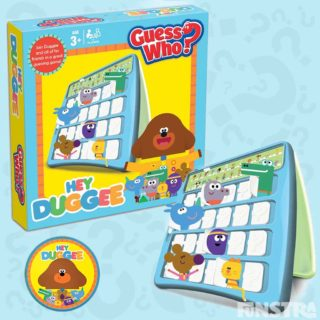 Can you guess who your opponent's mystery character is? Is it Duggee or is it one of his friends? Guess 48 colorful characters with this fun traditional and educational board game, Guess Who?