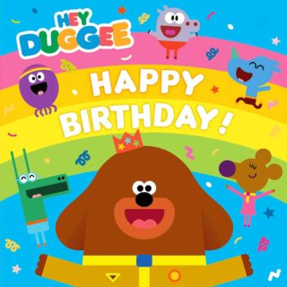 Happy Birthday from Hey Duggee! Make a cake, party decorations and more craft activities at the official Hey Duggee website.