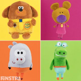 Duggee, Norrie, Roly and Happy plushies!