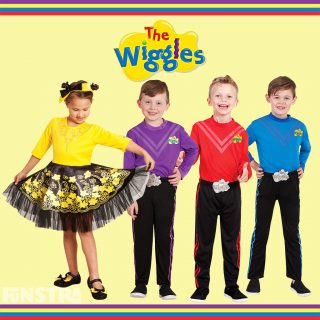 Wiggles costumes for girls and boys in toddler and child sizes