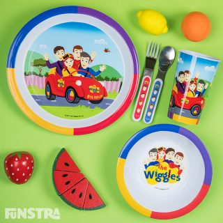 Mealtime Set, Cutlery Set and Wooden Play Fruit