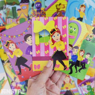 Play matching card games with the Wiggles games and educational toys that improve cognitive development and memory!