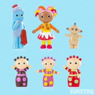 Perfect for little hands to hold, Igglepiggle, Upsy Daisy, Makka Pakka and the Tombliboos figurine set are tiny treasures that stimulate imaginative play.