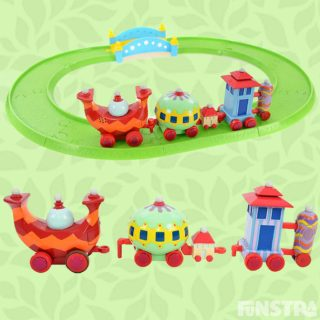 The Ninky Nonk train set with detachable carriages and track set features fun Ninky Nonk sounds and helps to develop your little one's fine motor skills and encourages imagination through pretend play.