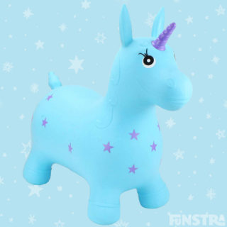 Bounce around on a magical unicorn from Happy Hopperz, that not only rivals space hoppers of the 1970's, but takes the art of bouncing to a whole new level. Children can develop co-ordination and balance, strengthen core muscles and enhance spacial awareness.