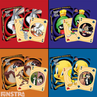 Deal the cards and play card games with Marvin the Martian, Tasmania Devil, Bugs Bunny, Tweety Bird, Sylvester and the Looney Tunes.