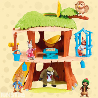 Let's Go! Re-create fun adventures with this secret treehouse playset with working lift, flip-over planning table, telescope and lots more fun features for your toy figures to explore.