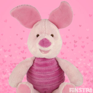 'Sometimes the smallest things take the most room in your heart.' Cuddle Piglet soft plush toy.