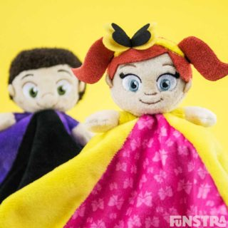 The Little Wiggles  comforters for babies featuring Lachy and Emma