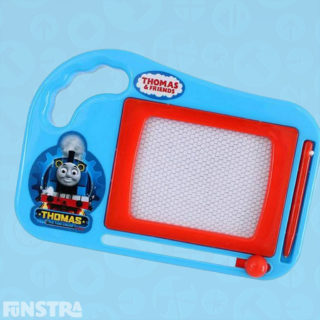 The Thomas and Friends mini sketcher is just like a traditional Etch A Sketch toy, where you can draw your favorite trains and characters from the show again and again.