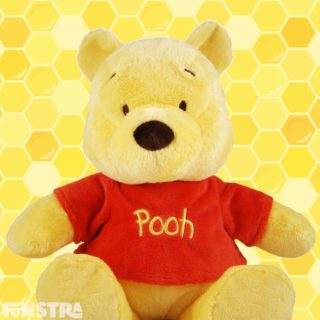 'A day without a friend is like a pot without a single drop of honey left inside.' Cuddle Pooh bear plushy.