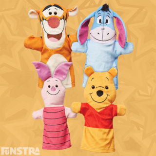 Winnie the Pooh, Tigger, Eeyore and Piglet hand puppets will not only entertain children, but stimulate the imagination and encourage creativity, develop communication skills, motor skills and boost confidence.