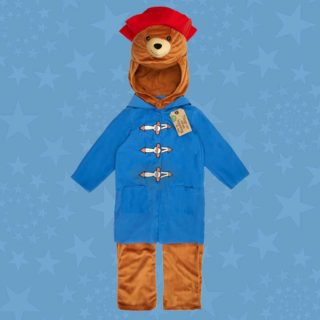 Your little cub can dress up as Paddington bear with this costume featuring Paddington's signature red hat and blue coat.