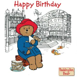 Happy birthday from Paddington Bear! Surprise your little one and give the gift of a Paddington Bear teddy bear.