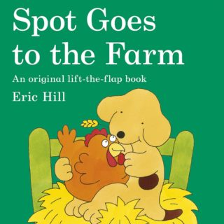 Down on the farm, Spot goes in search of the new baby piglets, finds a basketful of kittens as well and meets farm animals in this classic book, 'Spot Goes to the Farm' by Eric Hill.