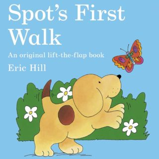 Spot discovers all sorts of exciting new things when he goes on his very first walk in 'Spot's First Walk' by Eric Hill.