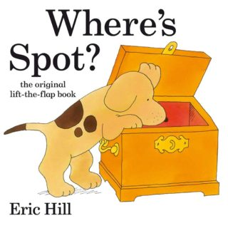 Join the hunt to find lovable puppy, Spot, in Eric Hill's first ever lift-the-flap tale! Lift each flap to find all sorts of funny animal surprises, before discovering where cheeky Spot has been hiding, in 'Where's Spot?' by Eric Hill.