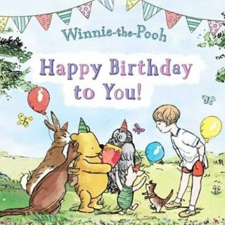 Winnie the Pooh, Rabbit, Kanga, Owl, Roo and Christopher Robin wish happy birthday to you! Surprise your little one and give the gift of Disney's Winnie the Pooh.