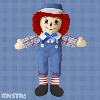 Raggedy Andy is Raggedy Ann's brother and was introduced to children in the sequel to the Johnny Gruelle children's book series, Raggedy Andy Stories.