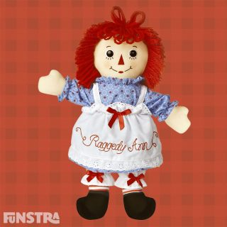 Raggedy Ann is one of the most recognised rag dolls with red yarn for hair and a triangle nose and first appeared the Raggedy Ann Stories book series of children's stories by Johnny Gruelle in 1918.
