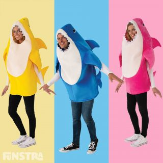 We have all sung it and danced to the Baby Shark song, and kids and adults of all ages secretly love it. Now you can join in with the kids and dress as this rather large ocean biter.