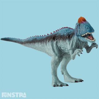 The Cryolophosaurus dinosaur has a forward-facing bony crest on its head.