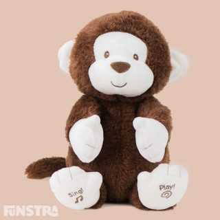 Clappy the Monkey entertains baby and sings 'If You?re Happy and You Know It' and encourages baby to clap their hands along with him. Clappy also includes light up cheeks for extra excitement and joins GUND's best-selling range of interactive plush friends for baby.