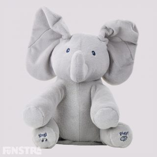 Flappy the Elephant has two play modes - plays peek-a-boo or hear the song 'Do Your Ears Hang Low?'. The animated plush elephant's ears flap during play to delight baby.