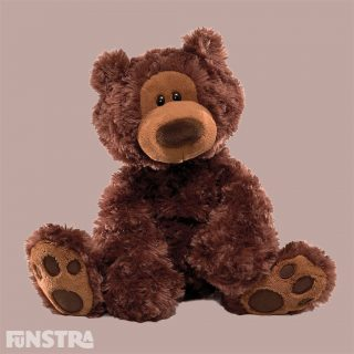 Philbin has soft chocolate-coloured fur and a classic teddy bear look to be loved for generations to come. Sweet personality makes this bear impossible to resist, with embroidered paw pads. The world's most huggable since 1898.