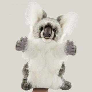 A soft and cuddly creature from down under, the Hansa Koala puppet looks realistic with a cute teddy bear like face and little paws with an extensive range of movement, this Koala hand puppet will bring the iconic Australian animal to life.