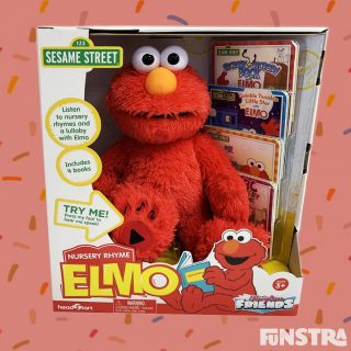 Read along with Sesame Street's Elmo Sorty Time. You and Elmo can read the nursery rhyme story books together!