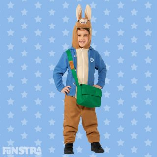 The mischievous and charming Peter Rabbit, wearing his signature blue jacket and satchel, is the perfect character for children's dress up parties, fancy dress and makes a great character for Book Week and Halloween.