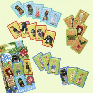 Play a game of cards with Peter Rabbit, Benjamin Bunny, Lily Bobtail, Squirrel Nutkin, Jemima Puddle-duck, Flopsy, Cottontail, Mrs. Tiggy-Winkle, Mr. Tod, Mopsy, Tommy Brock, Mr. McGregor and more of Beatrix Potter's classic characters.