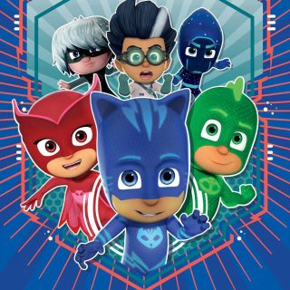 Join Catboy, Gekko and Owlette as they fight the bad guys, Luna Girl, Romeo and Night Ninja. PJ Masks, all shout hooray, 'cause in the night we saved the day!