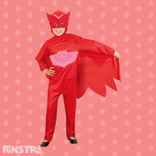 Meet PJ Masks' Owlette, the pyjama clad hero who is a school girl by day, superhero by night! Amaya is an auburn-haired child who transforms into a red owl with wings and super powers when she puts on her pyjamas and activates her animal amulets.