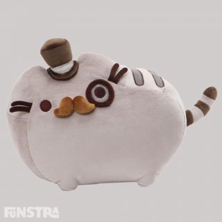 Fancy Pusheen lets you embrace your dandy and dapper side and features the adorable feline in a plush top hat, monocle, and mustache. Made from soft, huggable plush material consisting of polyester fibers and plastic pellets and is surface-washable for easy cleaning.