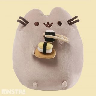 Enjoy a refreshing snack of sushi and nigiri alongside this super squishy and lovable Sushi Pusheen Plush!
