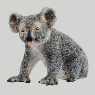 Koala bears are quite the sleepy heads, spending about 14 hours each day taking extensive naps. The rest of the time, they are busy eating eucalyptus leaves, consuming about a kilogram of them every day. The Schleich koala figure is modelled with attention to detail, hand-painted with care, and provides educationally valuable playtime for kids.