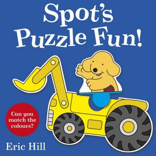 Spot and his friends each have their favourite vehicle - a digger, a train, a car and a tractor. But with the chunky press-out pieces in this super fun puzzle board book, the friends can share their favourites and try something new with a colour matching game. Press out the puzzle pieces and fit them together to create lots of different combinations - a book to read and to play, in 'Spot's Puzzle Fun' by Eric Hill.