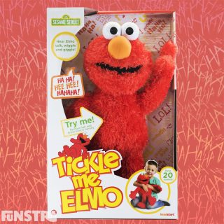 Elmo just loves to be tickled! Tickle Me Elmo talks, wiggles & giggles. With over 20 Elmo sounds, the more you tickle Elmo, the harder he laughs and wiggles.