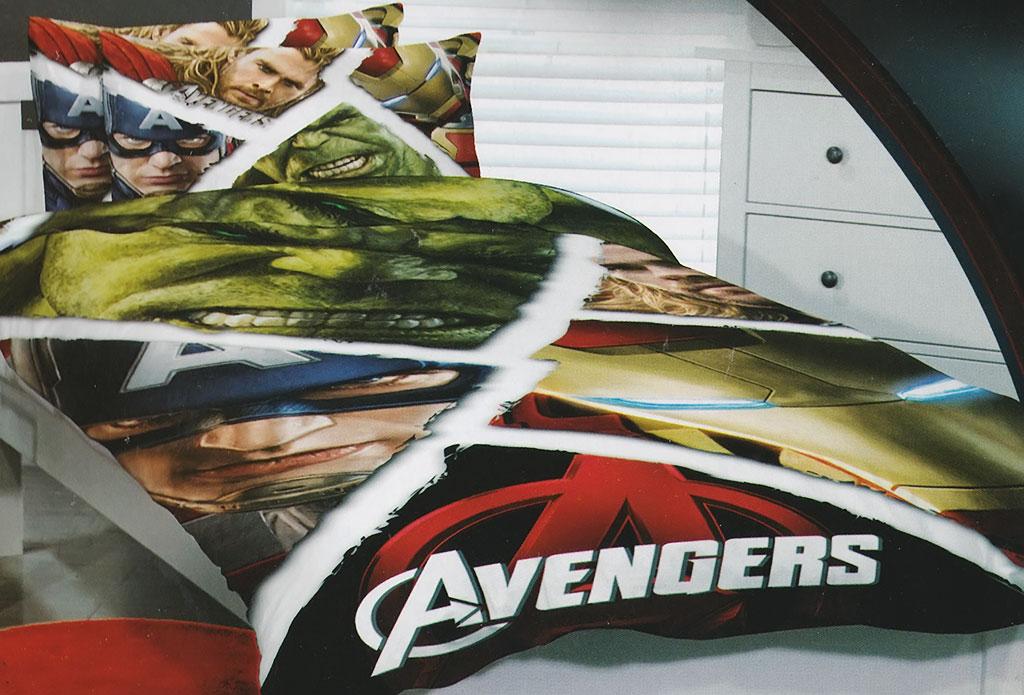 Avengers Quilt Doona Duvet Cover Set Iron Man Bedding Hulk Thor Captain America